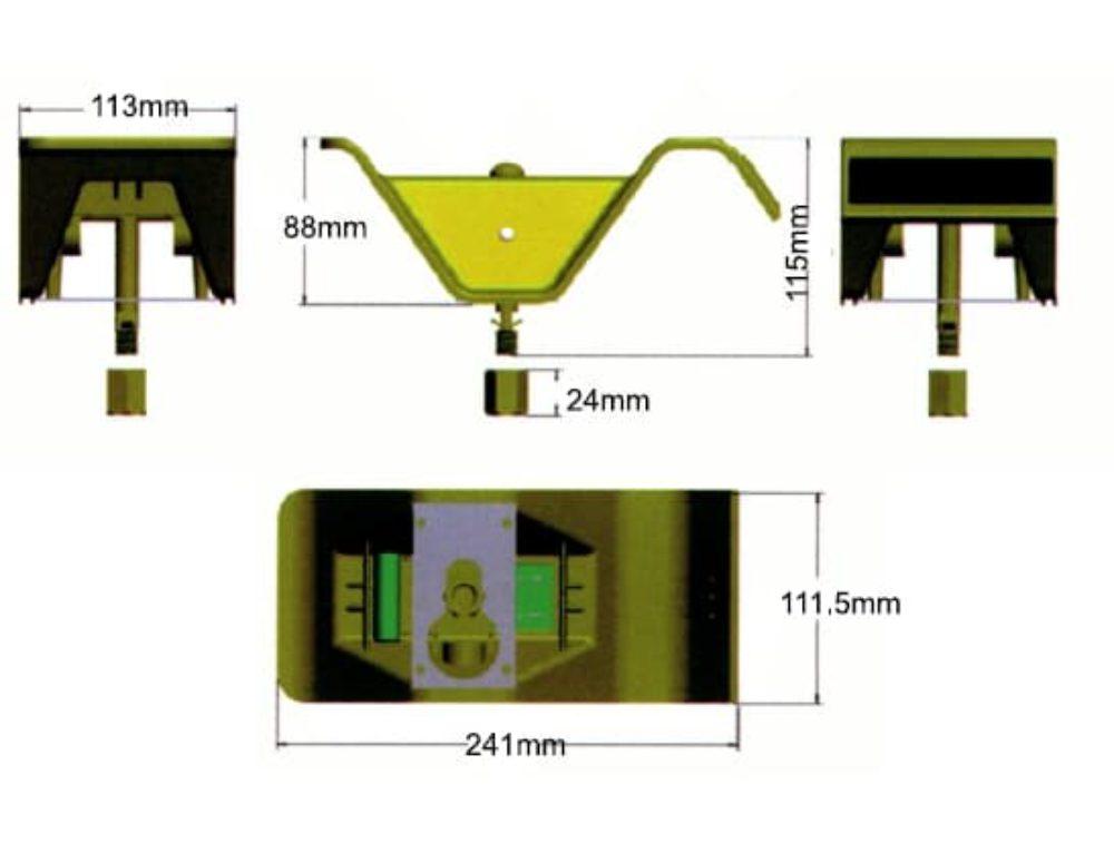 balise led refl chissante pour glissi re de s curit r22 balise et plot a led signalisation. Black Bedroom Furniture Sets. Home Design Ideas