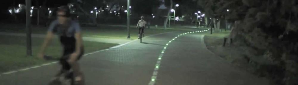 Balisage par plot led des pistes cyclables - Sécurité