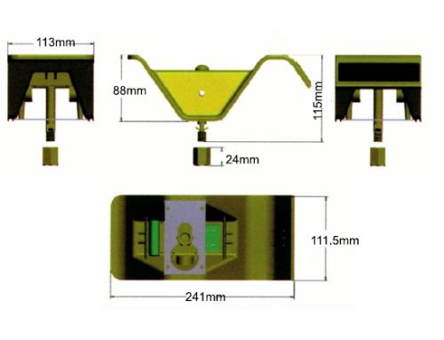Plot solaire led r18 balise et plot a led - Plot de signalisation ...