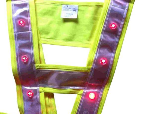 GILET CHANTIER FLUORESCENT A LED